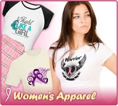 Cancer awareness shirts, apparel and unique gifts just for women from www.hopedreamsdesigns.com