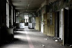 Decaying interior: West Park Asylum nursery and day room