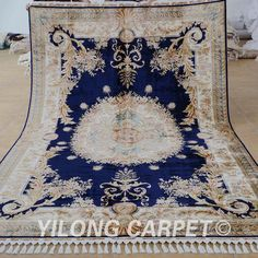 dark blue medallion rug hand made qom persian silk by Camelcarpet Persian Carpet, Persian Rug, Carpet Manufacturers, Tabriz Rug, Textiles, Buy Rugs, Modern Carpet, Home Textile, Blue Area Rugs