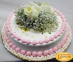 Τούρτα γάμου - αρραβώνων #wedding #cake Birthday Cake, Desserts, Food, Tailgate Desserts, Deserts, Birthday Cakes, Essen, Postres, Meals