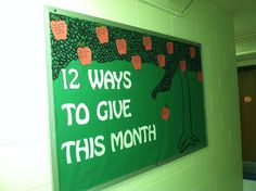 Bulletin Board Idea-the Giving Tree Come visit the School House for all your bulletin board supplies!