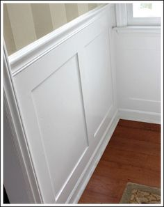Cottage Style Woodwork - adding molding to your walls- bead board (new word for me)