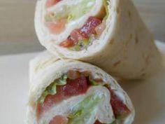 Wrap saumon fumé & crudités, Recette Ptitchef
