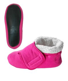 Slip Resistant Bootie Slipper With VELCRO® Brand Fasteners- Silverts