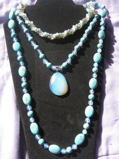 turquoise and moonstone combo