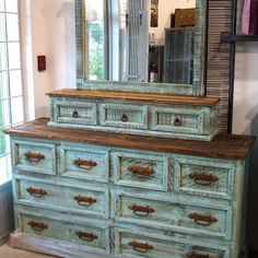Want to refinish my big ugly built in dresser like this!!!