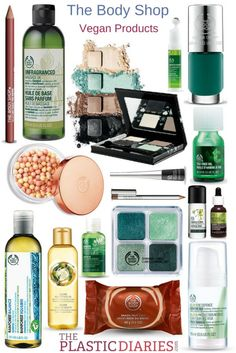 The Body Shop vegan products list on http://ThePlasticDiaries.com