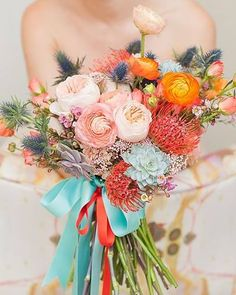 Love all the different colours!!!! Defeneitly a brides bouquet!