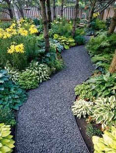 Walking path..... gravel metal landscape edge .. ok bring a dump truck I can rake this!