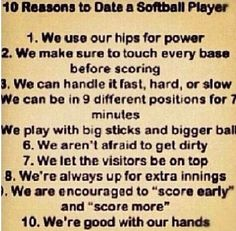 Ten Reasons To Date A Baseball Player