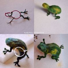 how to needle felted frog!! by kaefeltcrafts