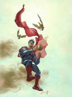 coffee and superheroes in artwork - Google Search
