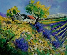 provence 5690902, painting by artist Pol Ledent