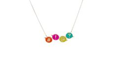 Fun & colourful in sterling silver from the new ChitChat collection by Laura Gravestock Designer Silver Jewellery, Silver Jewelry, Pendant Necklace, Sterling Silver, Fun, Color, Collection, Silver Decorations, Colour