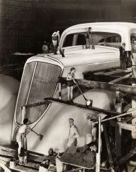Cleaning a giant Studebaker