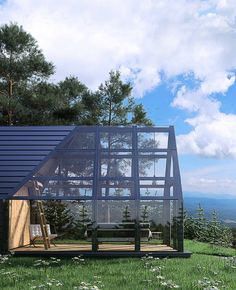 Exterior project of Scandinavian glass house. Design Exterior, Glass Room, Greenhouse Plans, Greenhouse Attached To House, House Extensions, Winter Garden, Future House, Architecture Design, Garden Architecture
