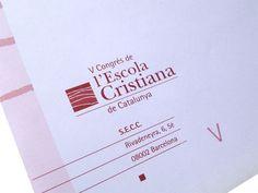 Logo V Congrés de l'Escola Cristiana de Catalunya, 1997.  #design #religion #education