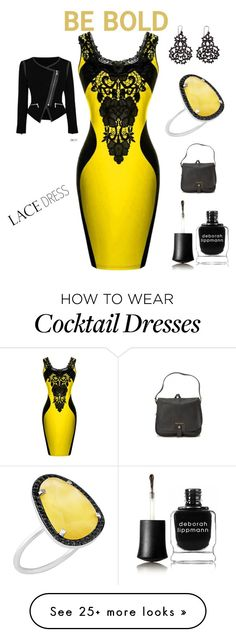 """""""Be Bold: lace dress.contest"""" by im-karla-with-a-k on Polyvore featuring Deborah Lippmann, Ted Baker and Christina Debs"""