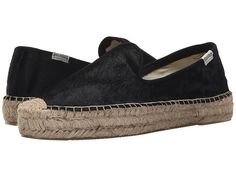 Soludos Smoking Slipper Flat Espadrille Slip On calf hair black sz8 109.00 4/16