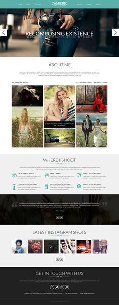 Photographer Portfolio Template, WordPress Website, Portfolio Website, Photographer Portfolio Theme, Website Design, WordPress Web Template