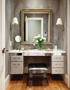 Traditional Bedroom Photos Design Ideas, Pictures, Remodel, and Decor - page 6 Modern Dressing Table Designs, Closet Vanity, Closet Mirror, Master Closet, Traditional Bedroom, Closet Designs, Bedroom Designs, Closet Storage, Design Case