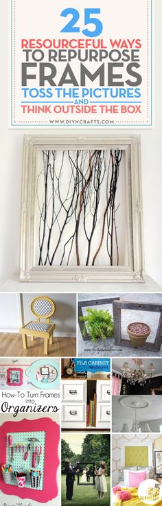 When you think about the primary purpose of a frame, it's basically just something in which to encase a treasured photo or artwork so that the eye is drawn to the image. So if you think of it purely as a type of border or enclosure, then your mind can rea