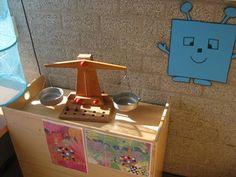 meten en wegen: Thema kleur en vorm | Juf Anke lesidee kleuters School, Toy Chest, Toys, Decor, Ideas, Activity Toys, Decoration, Clearance Toys, Gaming