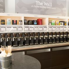 Did you miss the grand opening of our Coffee Tasting Experience Wall at our Bellevue store this weekend? Fear not! The coffee is always on.
