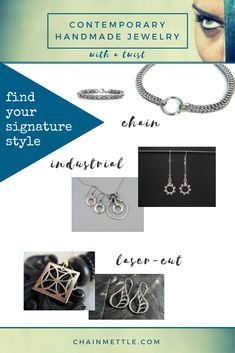 Check out our contemporary jewelry collection that is one twist away from what the other ladies are wearing. Laser Cut Jewelry, Metal Jewelry, Swarovski Jewelry, Swarovski Crystals, Laser Cut Steel, Hardware Jewelry, Medieval Fashion, Twist Outs, Stainless Steel Jewelry