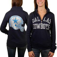 2d6a86c6b Dallas Cowboys Women s Haraby 1 4 Zip Sweatshirt - Navy Blue Dallas Cowboys  Pro Shop