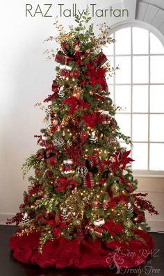 RAZ 2015 Tally Tartan Christmas Tree visit http://www.trendytree.com for RAZ Christmas decorations Visit http://www.trendytree.com to shop for RAZ Decorations