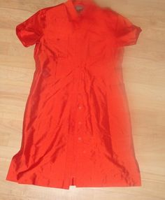 Ralph Lauren Silk Dress Red Womens size 10