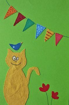 Aus meinem Nähkästchen: Katze mit Vogel Bird and Cat Chat et oiseau