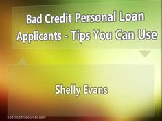 Bad Credit Personal Loan Applicants Tips You Can Use Ppt Presentat..