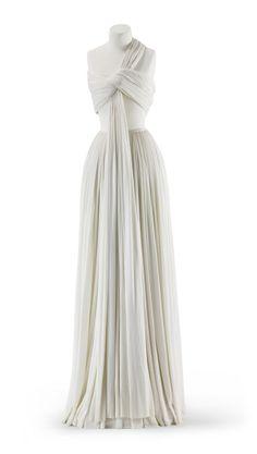 Evening dress, Madame Grès, c. 1973.