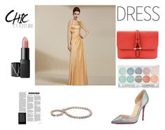 """""""Gold Beadings!!"""" by coniefoxdress ❤ liked on Polyvore featuring NARS Cosmetics, Tila March, Christian Louboutin, women's clothing, women's fashion, women, female, woman, misses and juniors"""