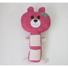 Almofada de Cinto de Segurança - Ursa Rosa