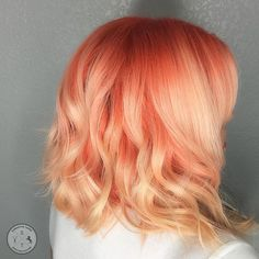 🍊Orange Creamsicle🍊 I love oranges and peach tones! Lightened with Magic Lightener, colored with Arctic Fox. added to all formulas. Hair Color And Cut, Cool Hair Color, Peach Hair Colors, Orange And Pink Hair, Peachy Pink Hair, Peach Hair Dye, Orange Creamsicle, Cheveux Oranges, Pelo Multicolor