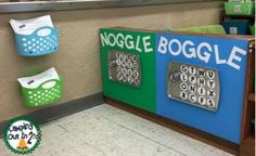 Boggle and Noggle Game Stations. Check out the blog post for free recording sheets!