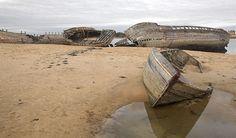Cimetière de bateaux du Magouër sur Ria d'Etel à Plouhinec - Morbihan