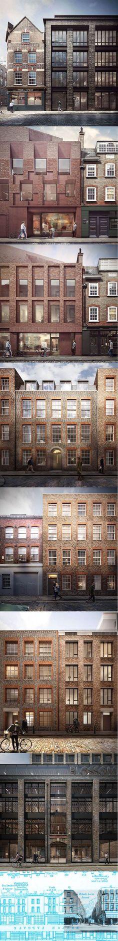 2015 Duggan Morris - Blossom Street / concept / London UK / brick / AHMM / Forbes Massie / concept