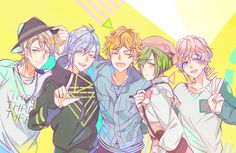 Summer Group Anime Art Girl, Anime Guys, Anime Group Of Friends, Manga, The Boy Is Mine, Anime Siblings, Anime Friendship, Boy Art, Cute Images