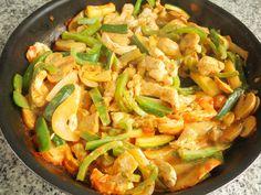 Receitas de Dieta: Strogonoff de Peru e Vegetais