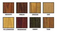 Woodoc Stain Concentrates Colour Chart Wood Diy Woodwork