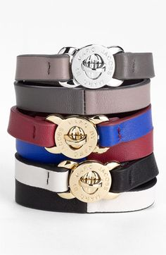 MARC BY MARC JACOBS 'Katie' Double Wrap Leather Bracelet