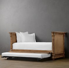RH's St. James Panel Daybed:Evoking the architectural classicism of turn-of-the-century design, St. James is grand in both scale and beauty.