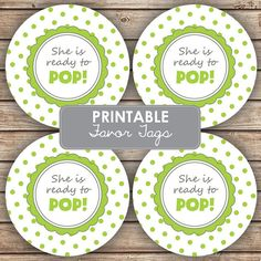 She's Ready To POP Baby Shower Party Decorations by spottedpixel