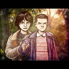 Mike and Eleven from Stranger Things. #strangerthings #netflix #GB…