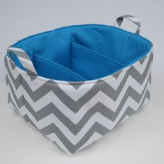 Chevron Diaper Caddy