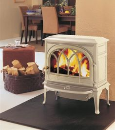 Jotul wood stove. In white. Anyone know how hard these are to keep looking clean?